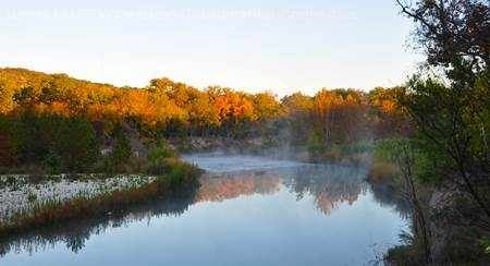 Upper Llano River in the fall