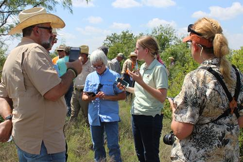 NRI Extension Associate Amanda Gobeli explains the Northern Bobwhite Habitat Evaluation app at the Statewide Quail Symposium.