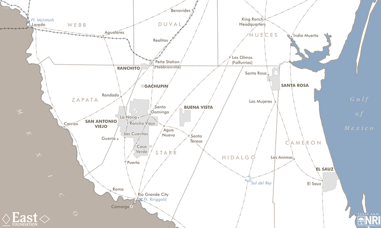 Map Of The Month A Look Back In Texas History Texas AM NRI - Map of south texas